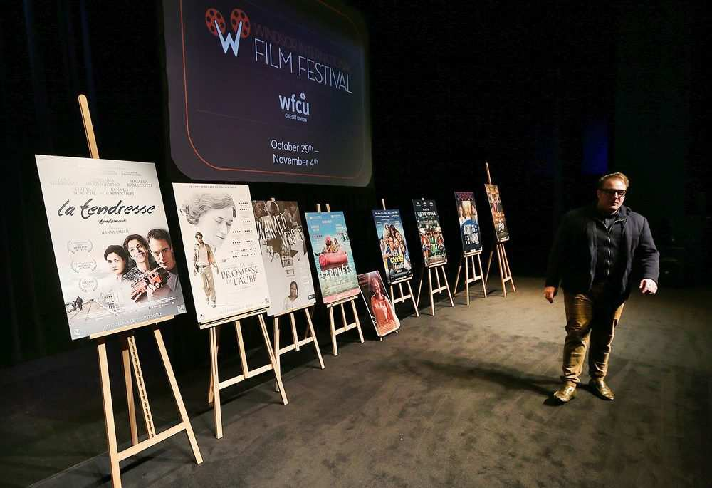 WIFF 2018 Executive Director Vincent Georgie is seen at a press conference on Oct. 11, 2018, at the Chrysler Theatre after announcing this year's lineup. (DAN JANISSE/Windsor Star)